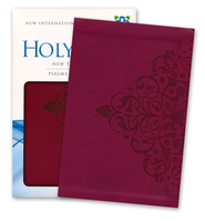 NIV New Testament with Psalms and Proverbs, Italian Duo-Tone, Cranberry  -