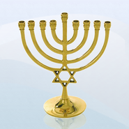 Celebration Star of David Hanukkah Menorah   -