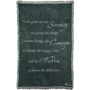 Serenity Prayer Throw  -