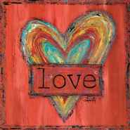 Love Heart Wrapped Canvas  -