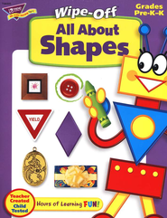 All About Shapes Wipe-Off Books  -