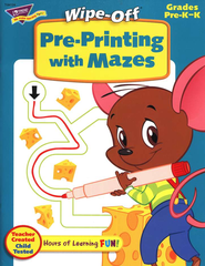Pre-Printing with Mazes, Wipe-Off Books, Grades PreK-K   -