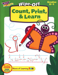 Count, Print, & Learn Wipe-Off Books  -