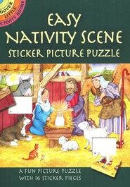Easy Nativity Scenes Sticker Puzzles  -              By: Cathy Beylon
