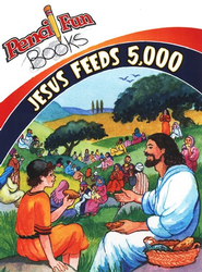 Jesus Feeds 5,000 - 10 pack, Pencil Fun Books  -