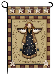 Patriotic Angel Flag, Small  -