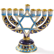 Star of David Hanukkah Menorah   -