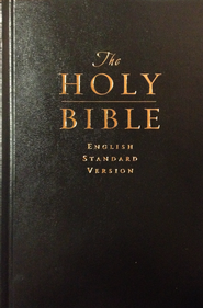 ESV Pew & Worship Bible, Hardcover, Black  -