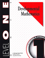 Developmental Math, Level 1, Student Workbook   -     By: L. George Saad