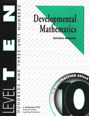 Developmental Math, Level 10, Solution Manual   -     By: L. George Saad