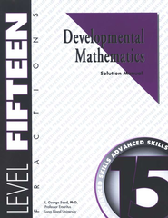 Developmental Math, Level 15, Solution Manual  - Slightly Imperfect  -