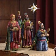 Real Life Nativity, 4 Piece Three Kings and Star, 10.25   -