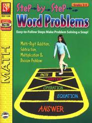 Step-By-Step Word Problems Grades 3-4   -