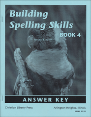 Building Spelling Skills Book 4 Answer Key, Second Edition, Grade 4    -