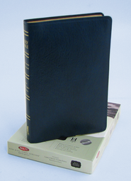 NKJV Ultra Thin Large Print Reference Bible, Bonded leather, Dark blue  -
