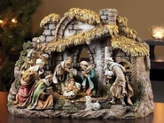 Nativity with Stable, 10 Piece  -