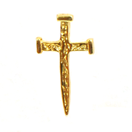 Nail Cross Lapel Pin   -