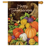 Happy Thanksgiving Flag, Large  -              By: Elena Vladykina
