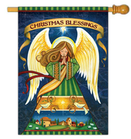 Christmas Blessings Flag, Large  -              By: Janet Stever