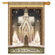 Love Was Born on Christmas Morn Flag, Large  -