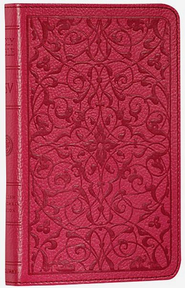 ESV Classic Thinline TruTone Bible wild rose with floral design  -
