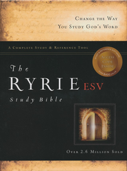 ESV Ryrie Study Bible, Burgundy Bonded Leather  -     By: Charles C. Ryrie