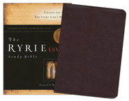 ESV Ryrie Study Bible, Burgundy Bonded Leather, Thumb-Indexed   -     By: Charles C. Ryrie