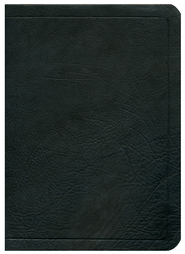 ESV Ryrie Study Bible, Black Calfskin Leather, Thumb Indexed  - Imperfectly Imprinted Bibles  -     By: Charles Ryrie