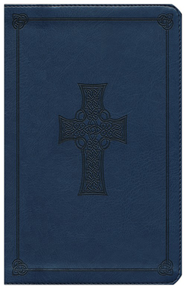 ESV Classic Thinline Bible, TruTone Royal blue with Celtic cross design, Imitation Leather  -