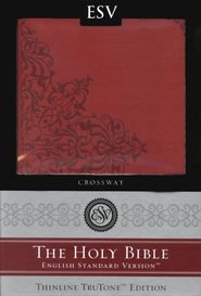 ESV Classic Thinline Bible, TruTone cranberry with filigree design, Imitation Leather  -