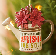 Friendship Refreshes the Soul, Watering Can Ornament  -