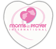 Moms in Prayer Heart Shaped Button   -
