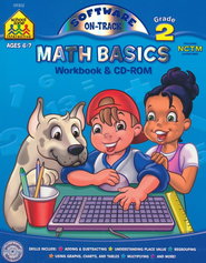Math Basics, Grade 2 Workbook & CD-Rom   -