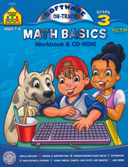 Math Basics, Grade 3 Workbook & CD-Rom   -