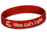 Shine God's Light Wristbands, Package of 10  -