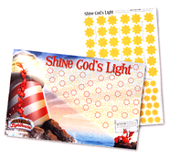 Shine God's Light Poster & Sticker Set, pack of 10   -
