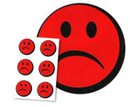 Sad-Face Stickers, Package of 30  -