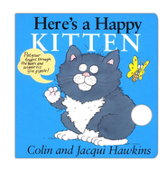 Here's a Happy Kitten, A Finger Wiggle Board Book   -     By: Colin Hawkins, Jacqui Hawkins