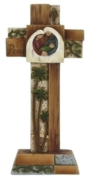 Cross with Holy Family  -