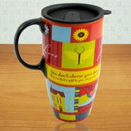 God's Gift of Family, Ceramic Travel Mug   -              By: Lori Siebert