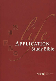 NIV Life Application Study Bible, Hardcover, Thumb-Indexed  1984  -