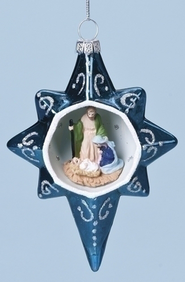 Star with Holy Family Ornament  -
