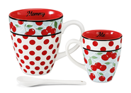Mommy and Me Mug Set, Red and White  -