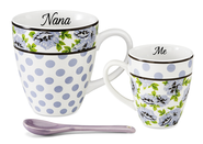 Nana and Me Mug Set, Lilac and White   -