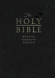 ESV Pew and Worship Bible, Large-Print--hardcover, black  -