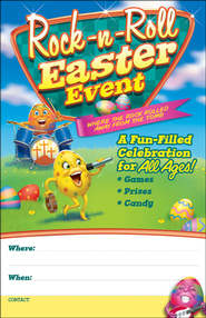 Rock-n-Roll Easter Event Poster, Package of 6  -