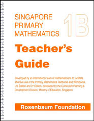 Singapore Math Primary Math Teacher's Guide 1B   -