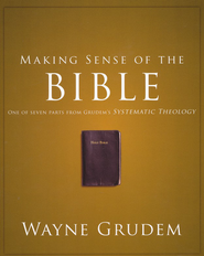 Making Sense of the Bible: One of Seven Parts from Grudem's Systematic Theology - Slightly Imperfect  -