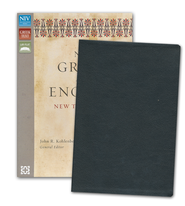 NIV Greek and English New Testament, Italian Duo-Tone, Black  -              By: John R. Kohlenberger III, ed.