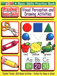 Visual Perception & Drawing Activities Preschool Basic Skills Book  -